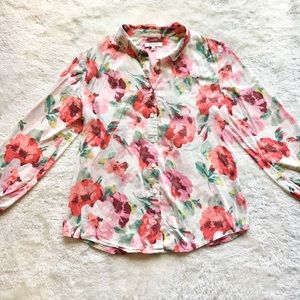 Madewell Floral Button Down